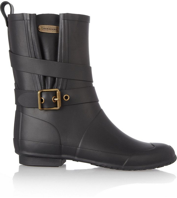 67e1ad16756 Burberry Shoes & Accessories Biker-style Wellington boots on ...