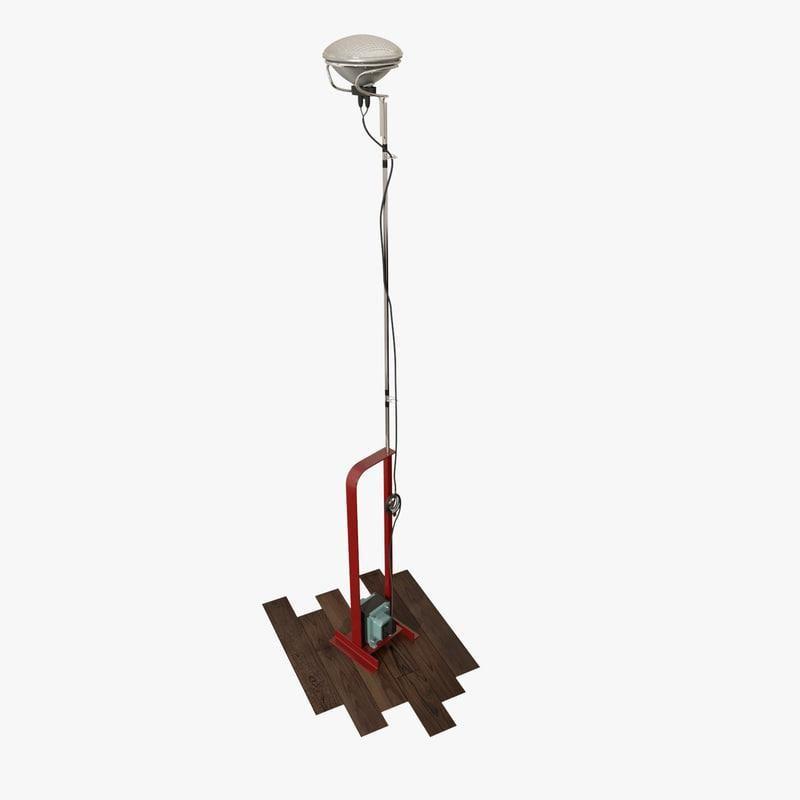 Flos Toio Floor Lamp 3d Model Ad Toio Flos Floor Model Floor Lamp Floor Lamp Buy Lamp