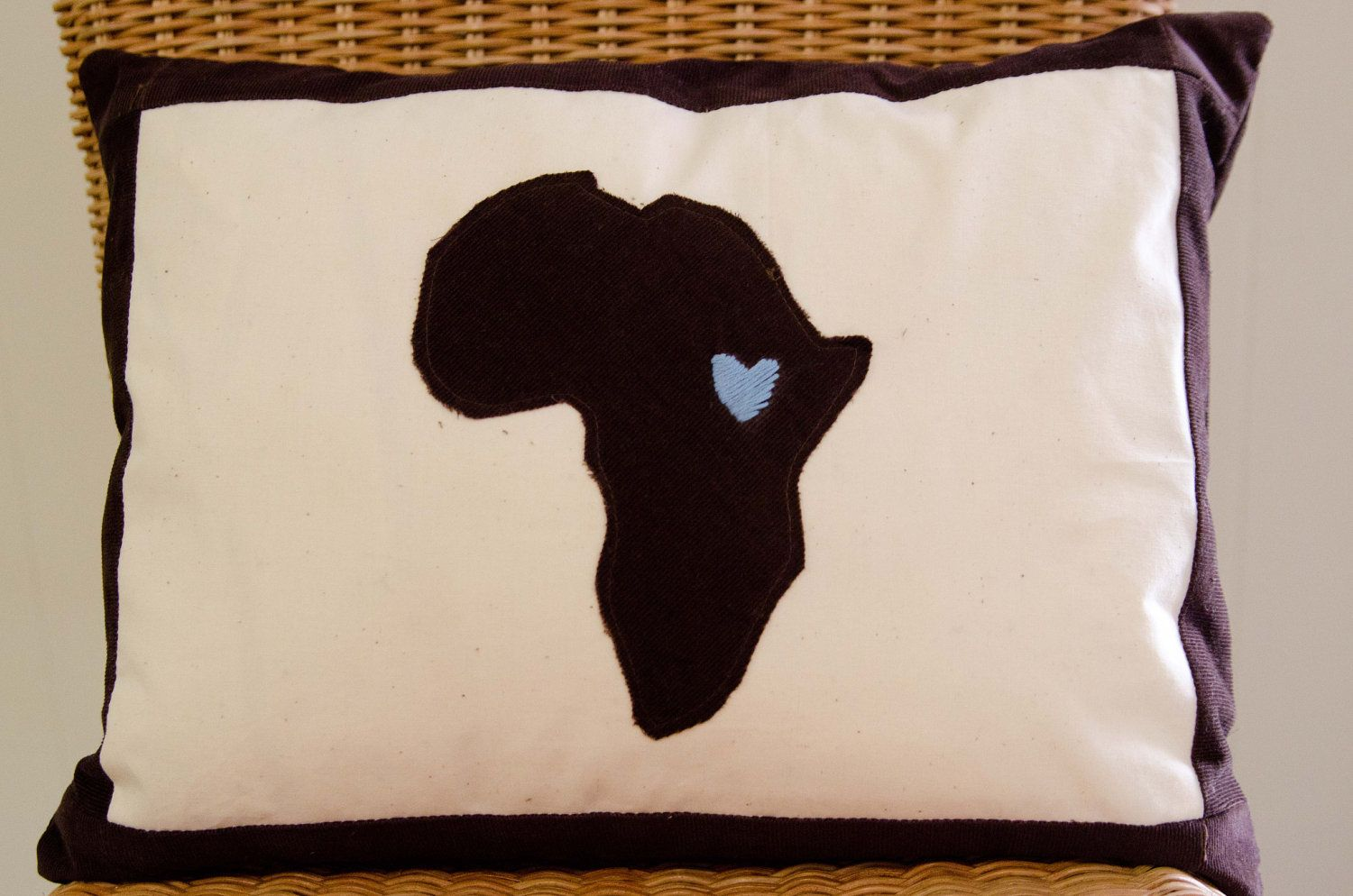 Custom africa appliqued pillow via etsy bet is where the