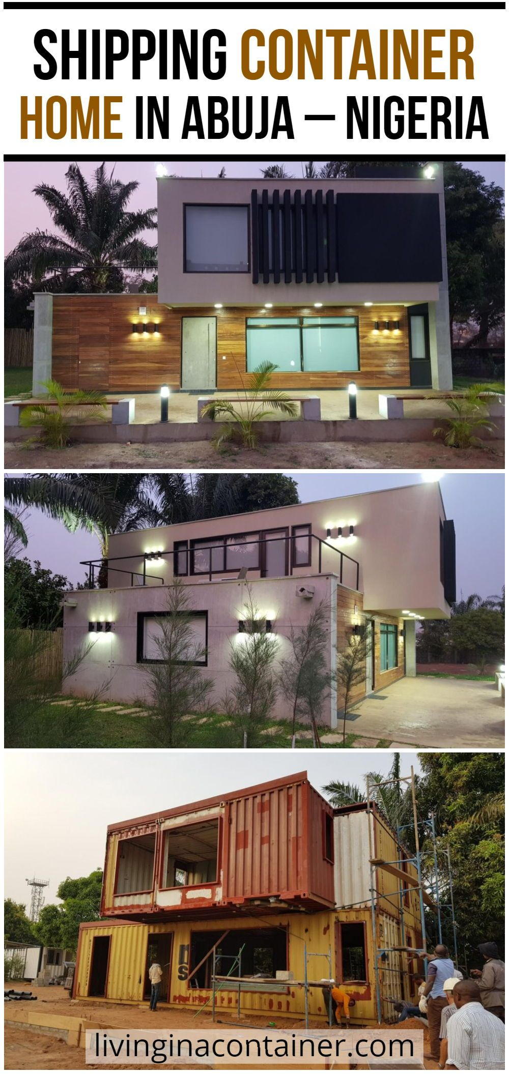 Shipping Container Home In Abuja Nigeria Container House Shipping Container Homes Shipping Container