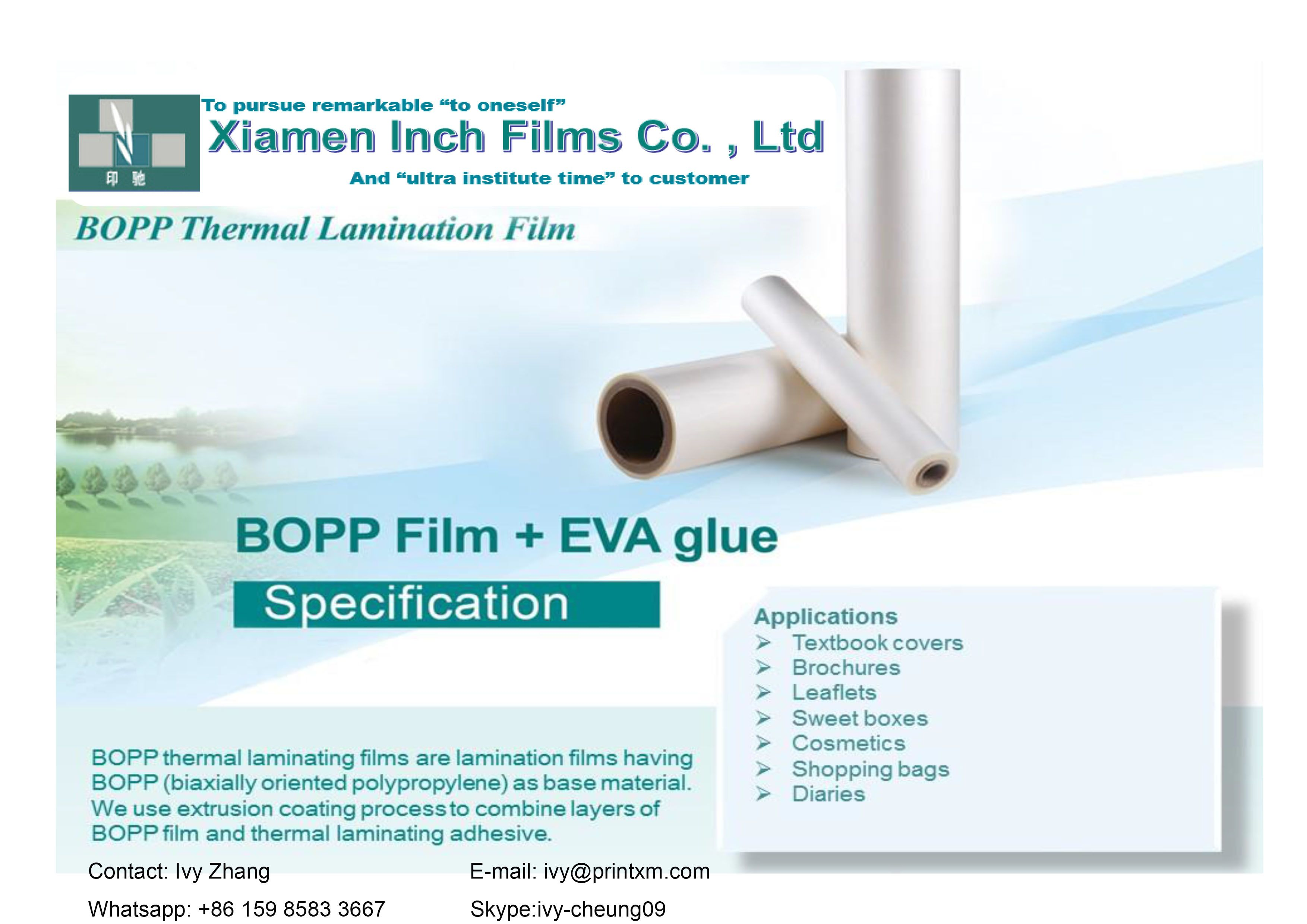 Bopp Thermal Lamination Film Sweet Box Thermal Leaflet