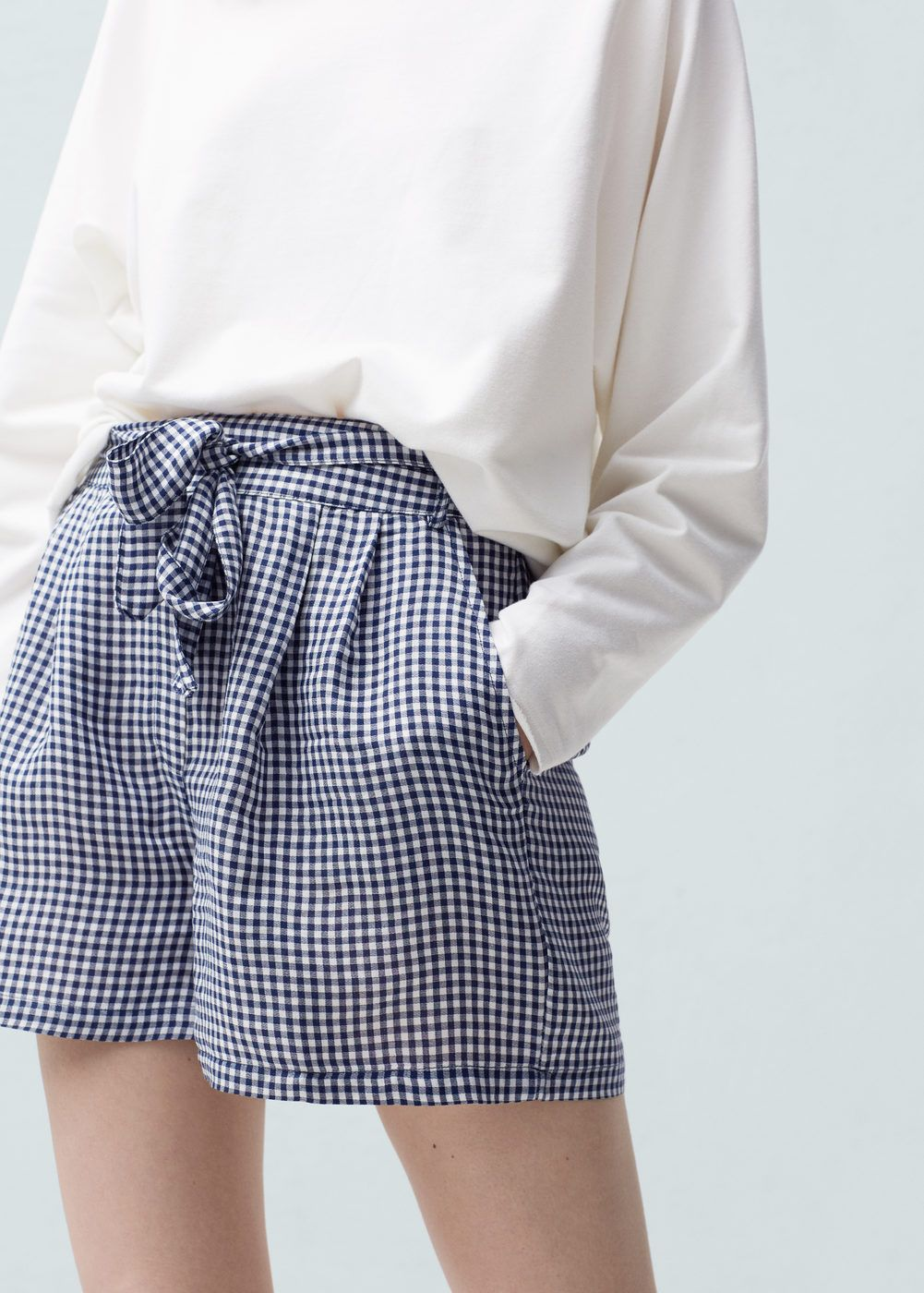 Short à carreaux - Femme c935a6b8be7
