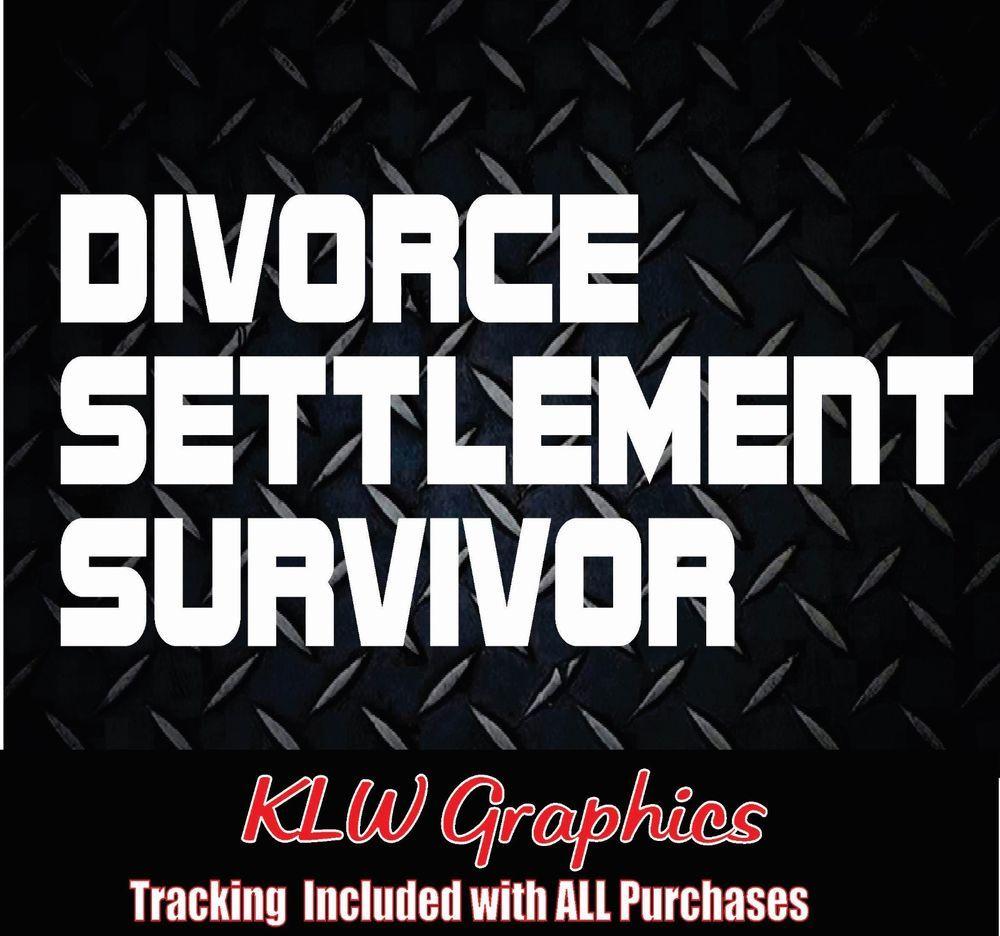 Divorce Survivor Vinyl Decal sticker Car Diesel Truck Crew Cab 1500 2500 Funny