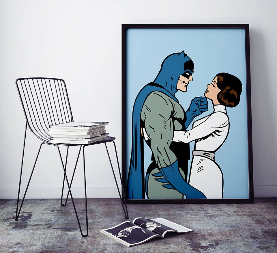 Hot Couple: Batman and Princess Leia  Customizable Comic Book | Etsy