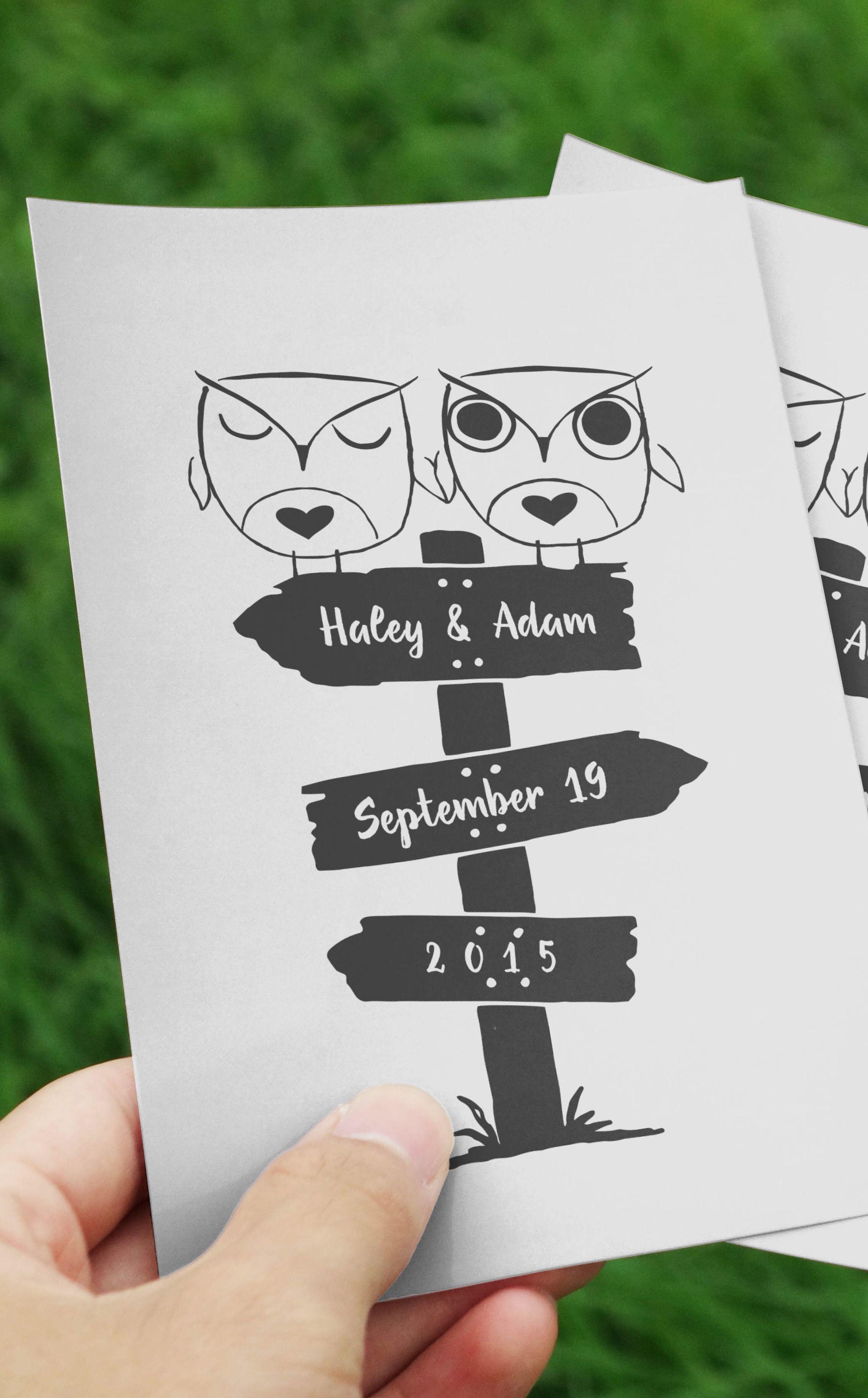 Cute Owls Wedding Logo | Owl, Logos and Wedding