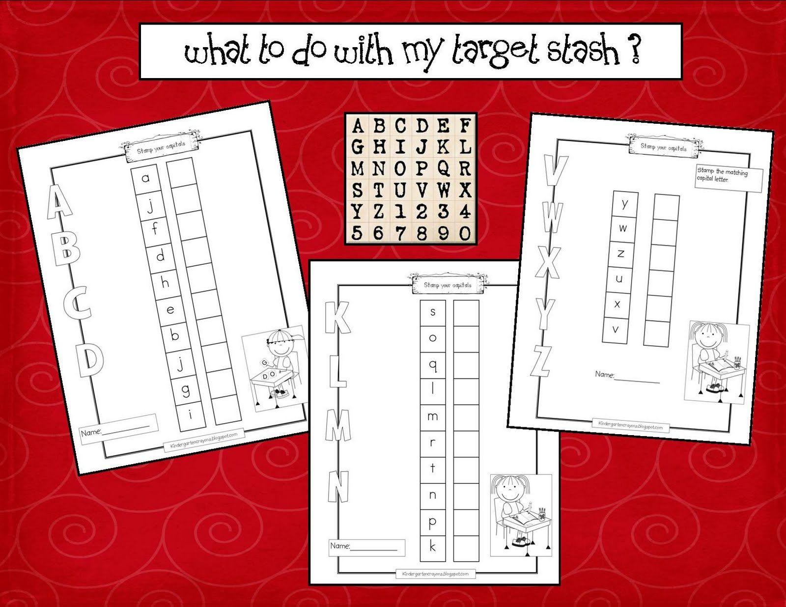 Kindergarten Crayons Number Letter Stamp Match Up