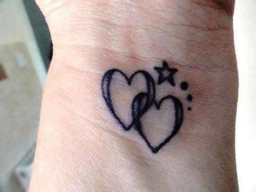 Heart Stars Tattoo By Blaze Star Tattoos Word Tattoos Body Art