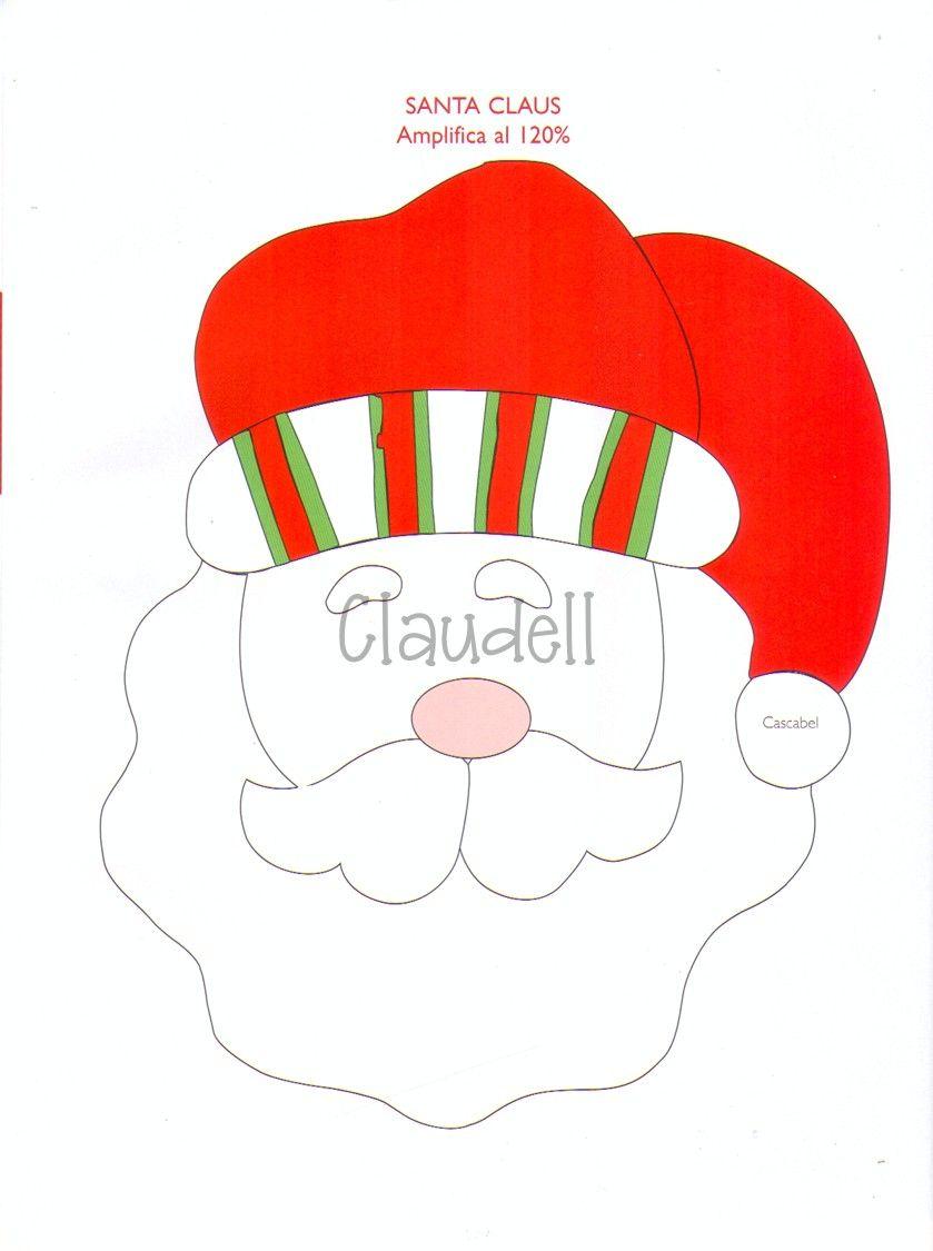MOLDE CARA SANTA CLAUS | NAZIDAD PATRONES | Noel, Natal y Xmas