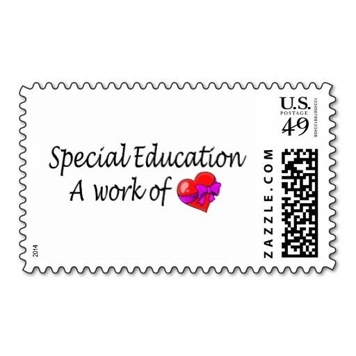 Special Education A Work Of Love Stamps. This is a fully customizable business card and available on several paper types for your needs. You can upload your own image or use the image as is. Just click this template to get started!