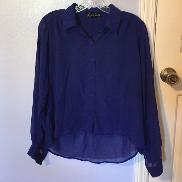 6584d8c0041 Royal blue sheer   high-low blouse EUC. Long-sleeved royal blue boutique  brand blouse. Slight hi-low and slightly sheer. NO TRADES boutique Tops  Blouses