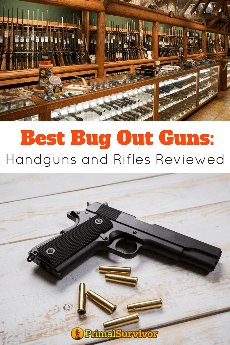 Best Bug Out Guns (Handguns and Rifles Reviewed) | SHTF, Weapons and ...