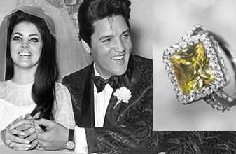 Famous Engagement Rings Us Priscilla Presley Wedding Elvis Wedding Famous Engagement Rings