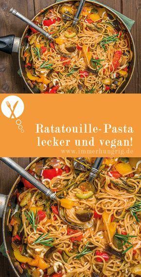 Rezept Ratatouille-Pasta (vegan) | immerhungrig