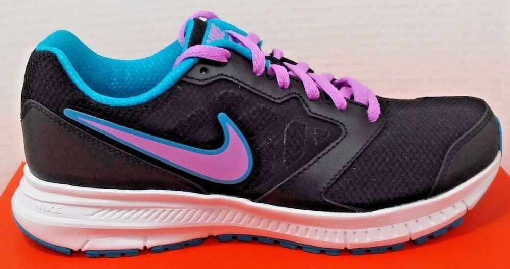 purple and black nike running shoes