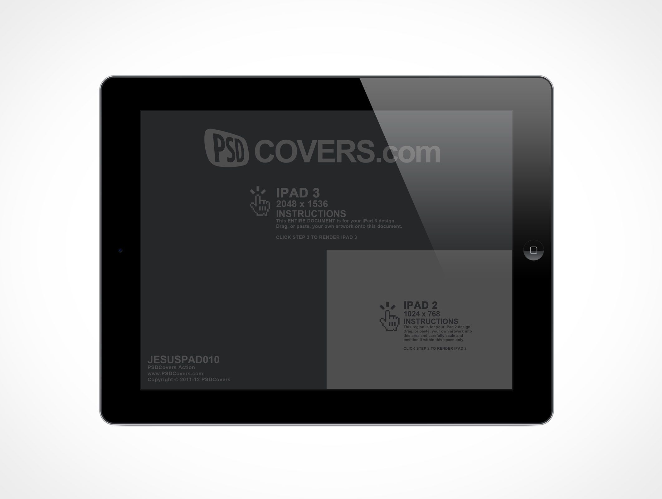 JESUSPAD010 is a front view shot of the new iPad in ...