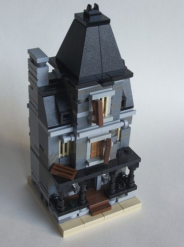 moc mini modulares mini haunted house y mini townhouse legos mini in 2018 pinterest. Black Bedroom Furniture Sets. Home Design Ideas