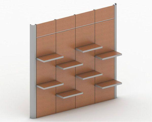 Modular Retail Wall Displays For Merchandising Apparel