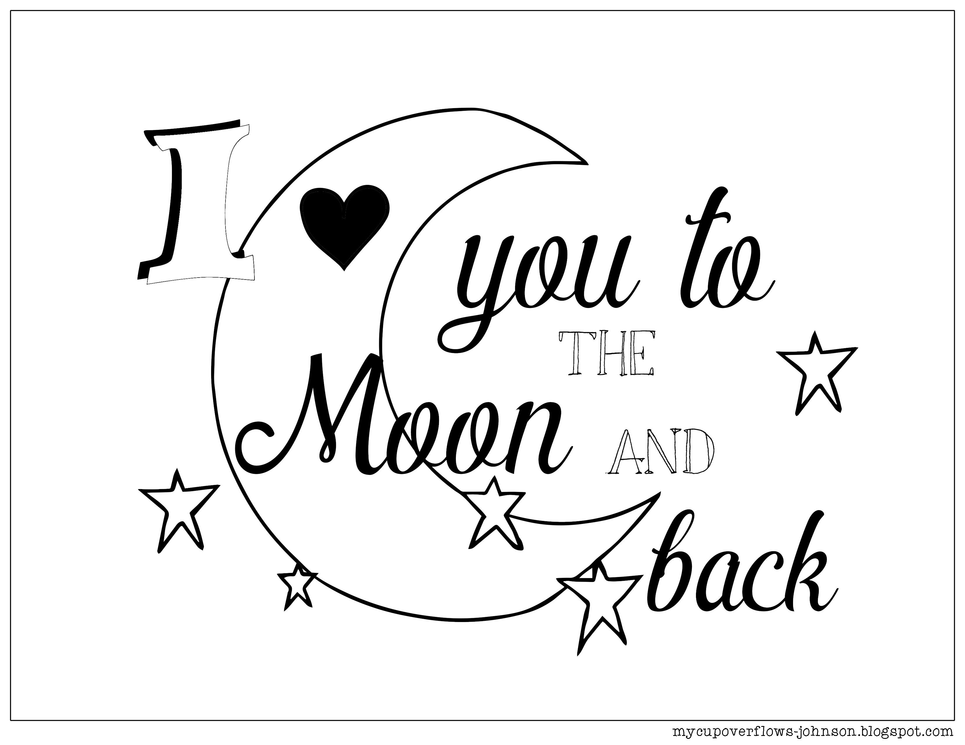 Coloring Pages For Valentine S Day Coloring Pages Moon Coloring
