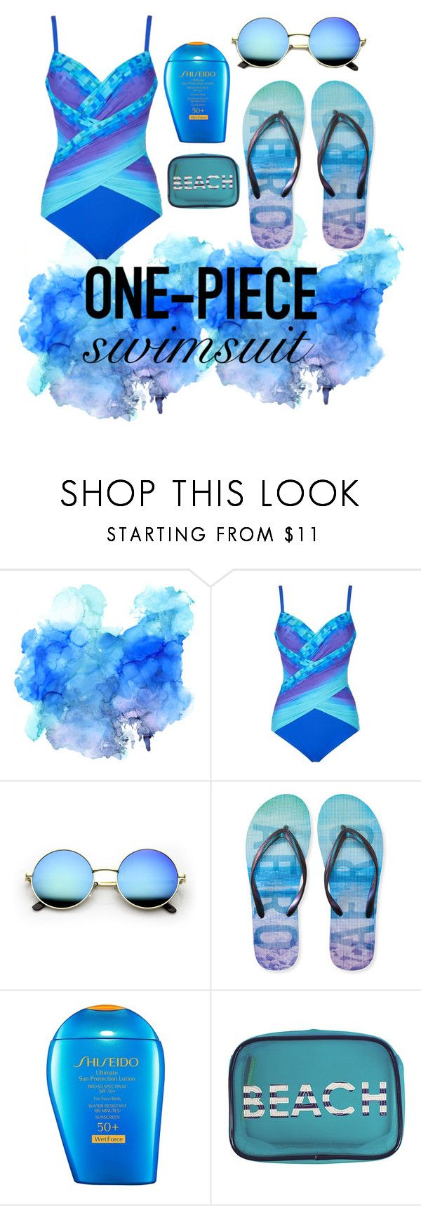 """"""""""" by onegirl727 ❤ liked on Polyvore featuring Gottex, Aéropostale, Shiseido, MACBETH and onepieceswimsuits"""
