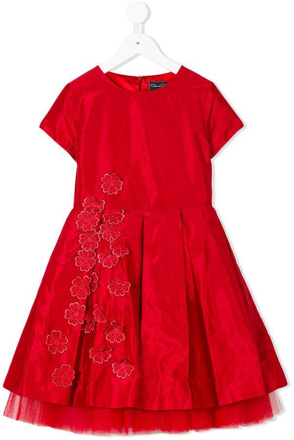 84cd508a3e86 Oscar De La Renta Kids Guipure flowers party dress | Toddller ...