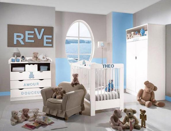 Chambre garçon bleu, gris et brun | Wassimo | Pinterest | Bleu gris ...