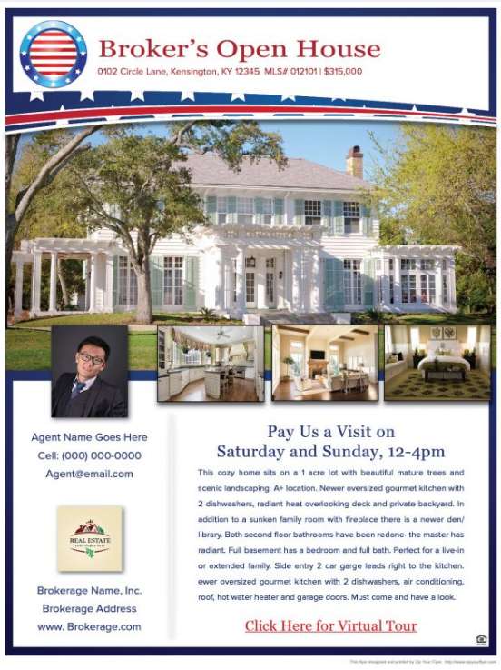 All American- Real Estate Flyer Sample www.ZipYourFlyer.com ...