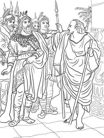 Elijah And King Ahab Coloring Page Bible Coloring Pages Bible