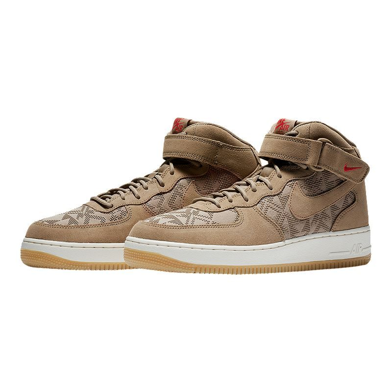 Nike Men's N7 Air Force 1 Mid '07 Premium Shoes Canteen