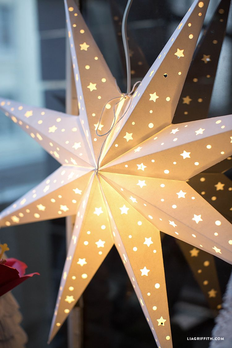 DIY Paper Star Window Decoration Lia