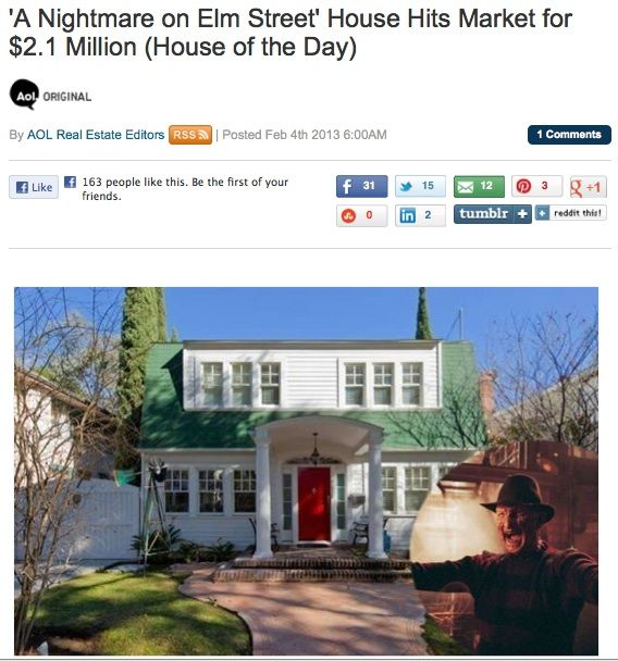The Most Terrifying House On The Market That You Can T Afford Anyway Nightmare On Elm Street Elm Street Street House
