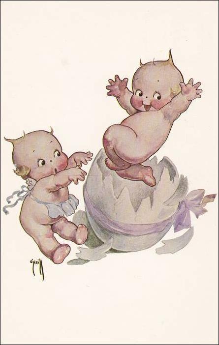 O Neill Kewpie Baby Hatching From Easter Egg Store Item Palmettopcs46388 Kewpie Dolls Kewpie Art Kewpie