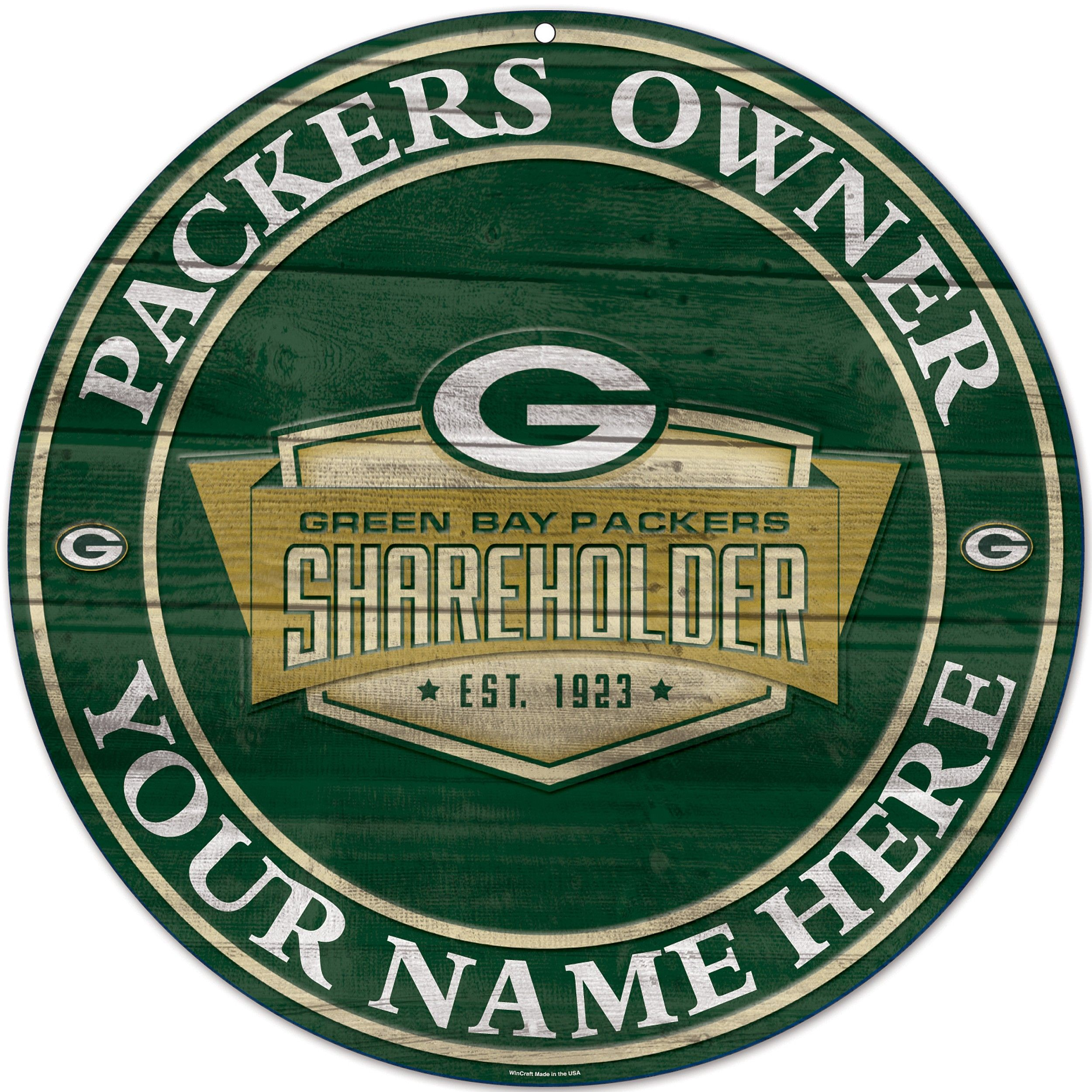 Personalized Shareholder Wooden Sign   All Things Packers   Packers  hot sale