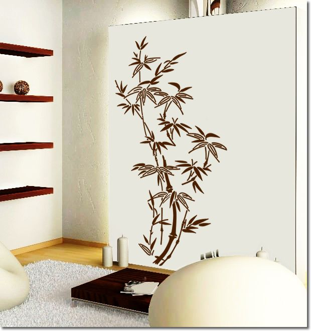 Anese Traditional Bamboo Wall Art Decor Stickers