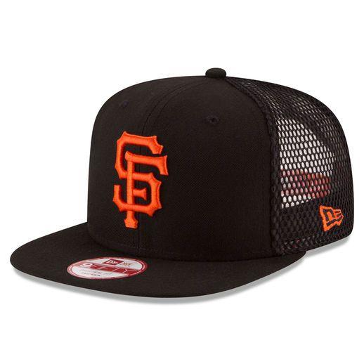 reputable site 84dfc b1396 New Era San Francisco Giants Black Trucker Tagged Original Fit 9FIFTY Snapback  Adjustable Hat
