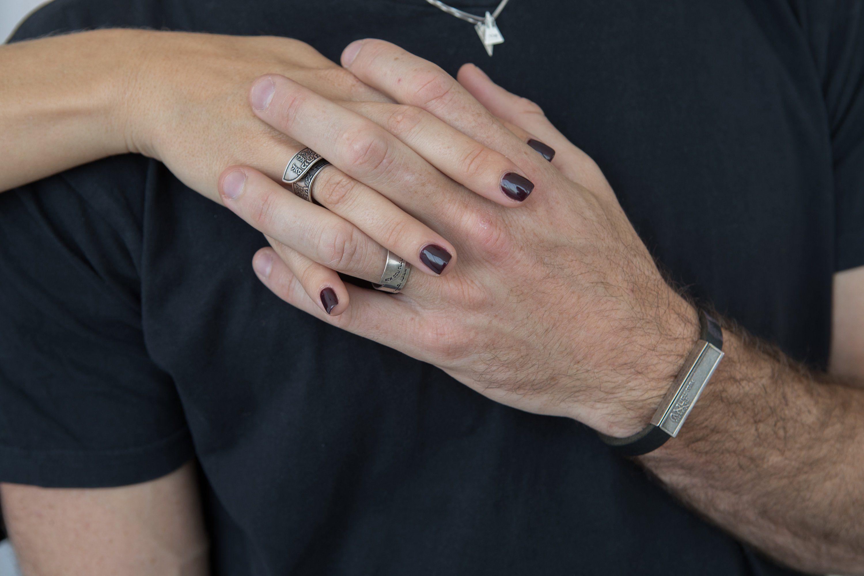 2 Rings Set Kabbalah Rings Jewish Ring For Him And Her Etsy Rings Kabbalah Jewish Jewelry