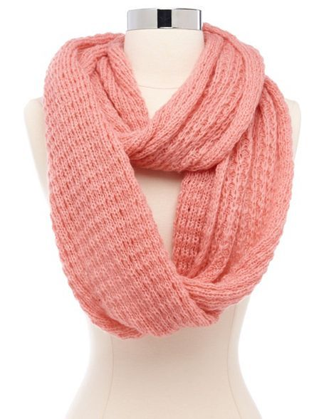 Vertical Crochet Infinity Scarf: Charlotte Russe   Scarves   Pinterest