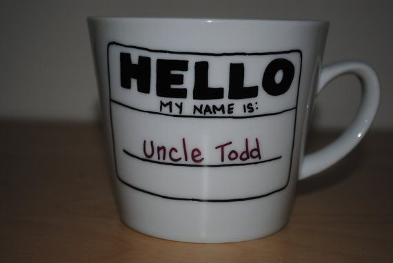 Mug Hello My Name Is_____ by GeauxCraft on Etsy, $9.00