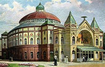 1895 Zirkus Busch in Berlin (befand sich suedlich der Stadtbahn zwischen Kleiner…