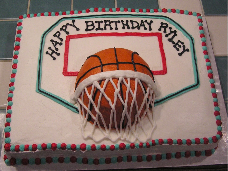 cool basketball cakes Basketball with backboard and hoop