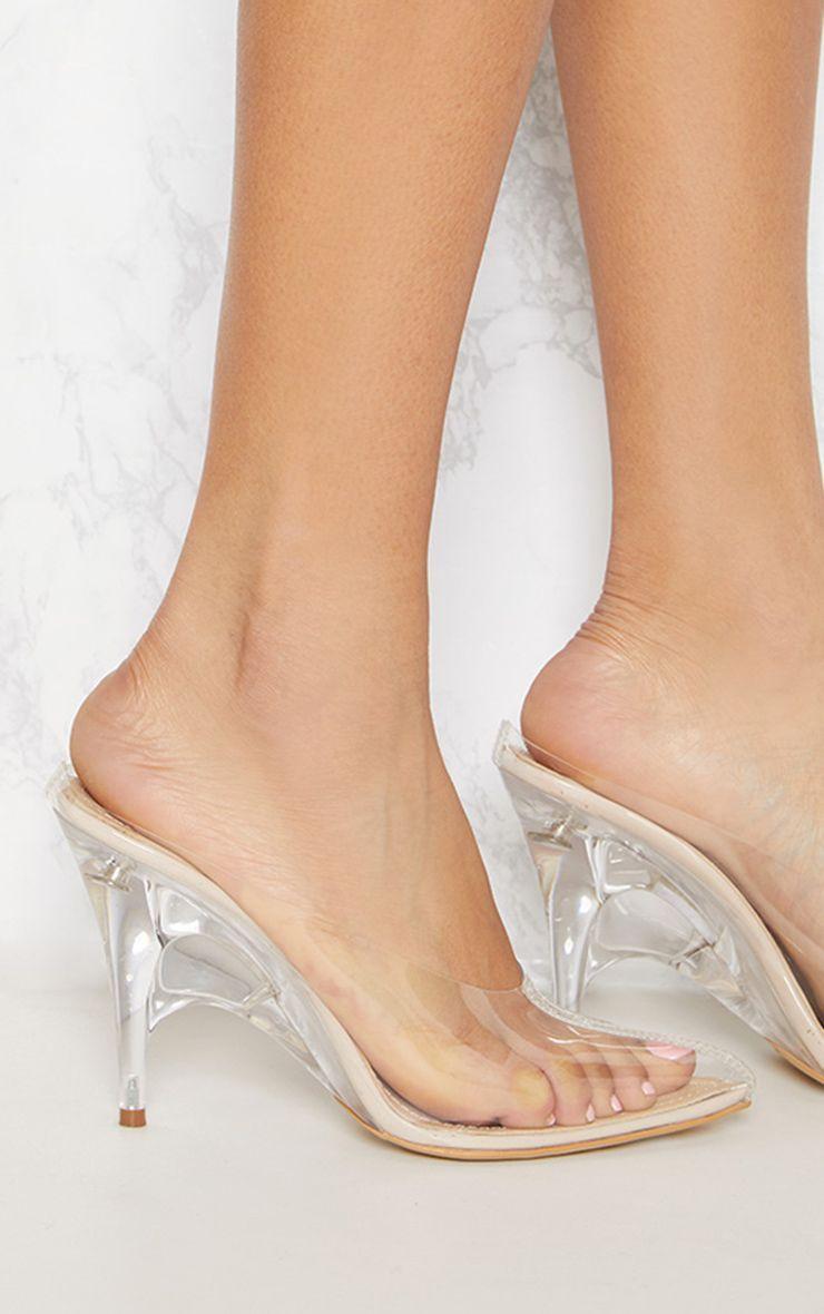 Women Clear High Heels Slingback Sandals Peep Toe Transparency PVC Shoes Fashion