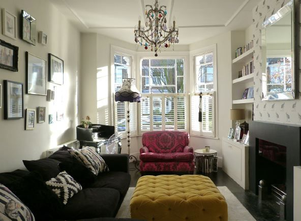 Victorian Terraced House With Open Plan Living Room Dining Room And Kitchen Diner With Conc Open Plan Living Room Dining Room Victorian Bay Window Living Room