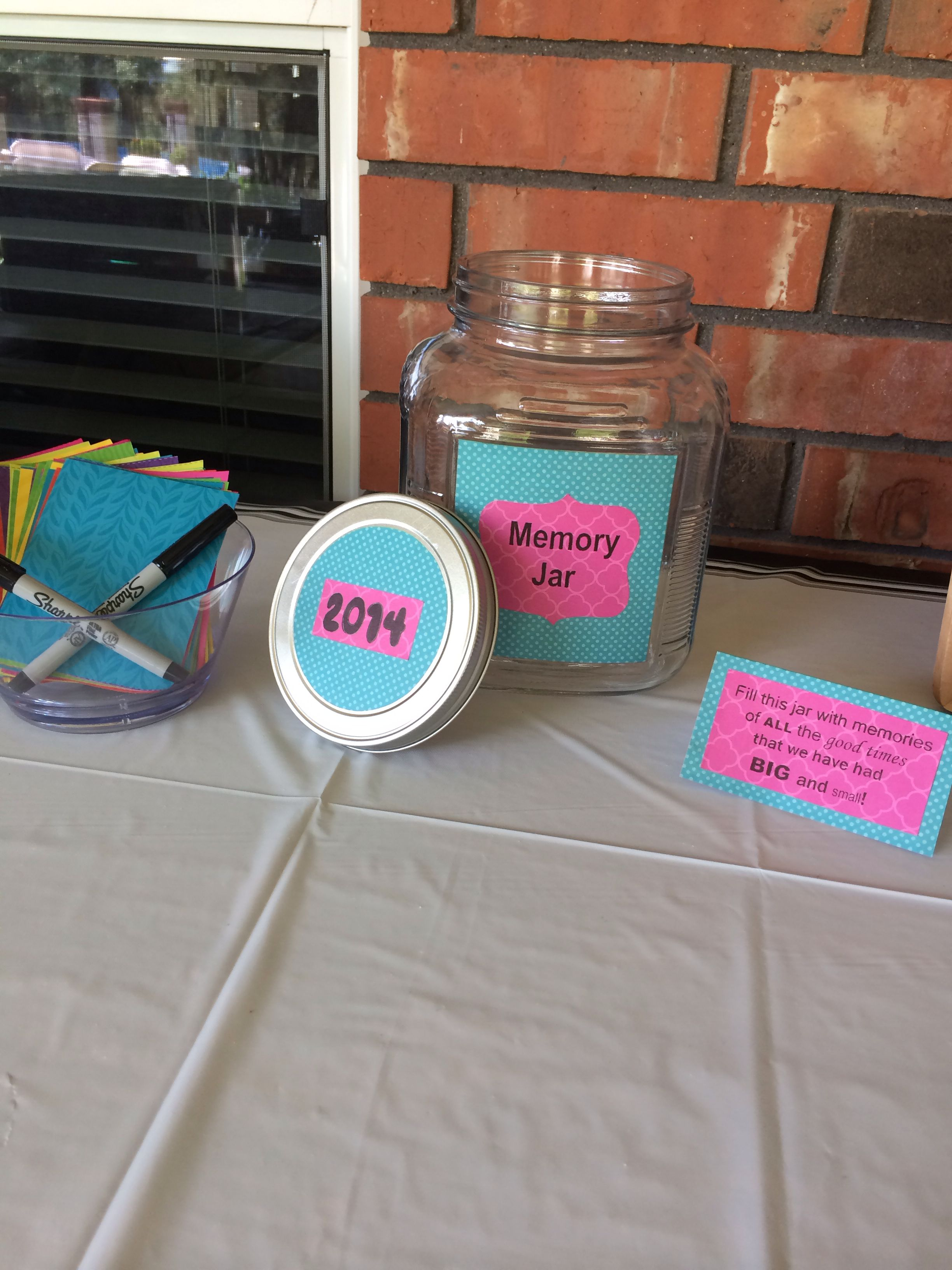 Made This Memory Jar For My Grad Party And It Was A Success Grad Parties Memory Jar Graduation Party