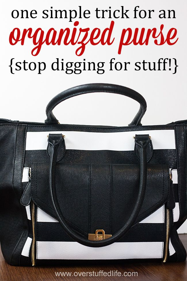 442322b1b7 Are you always digging to find your keys or a pen in your purse  Learn this  simple organization trick and stop digging once and for all!   overstuffedlife