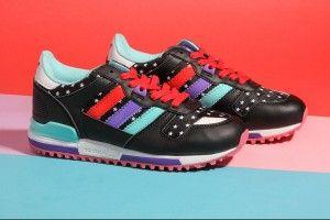 Adidas Originals ZX 700 Dames W - Sneakers Laag - Zwart Cyaan Rood Paars  Lichtblauw G95286