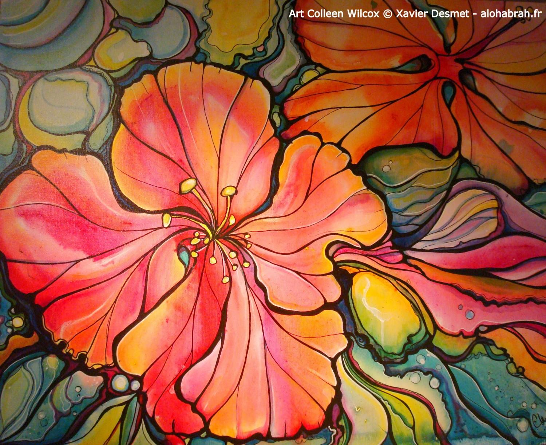 Colleen wilcox art art pinterest stained glass panels artsy colleen wilcox art hawaiian flowerstropical izmirmasajfo
