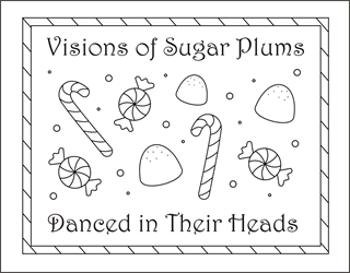 Free Christmas Coloring Pages Candy Cane Sheets