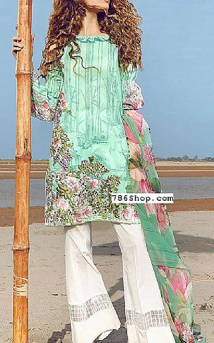 Light Sea Green Lawn Suit | Buy Cross Stitch Pakistani Dresses and ...
