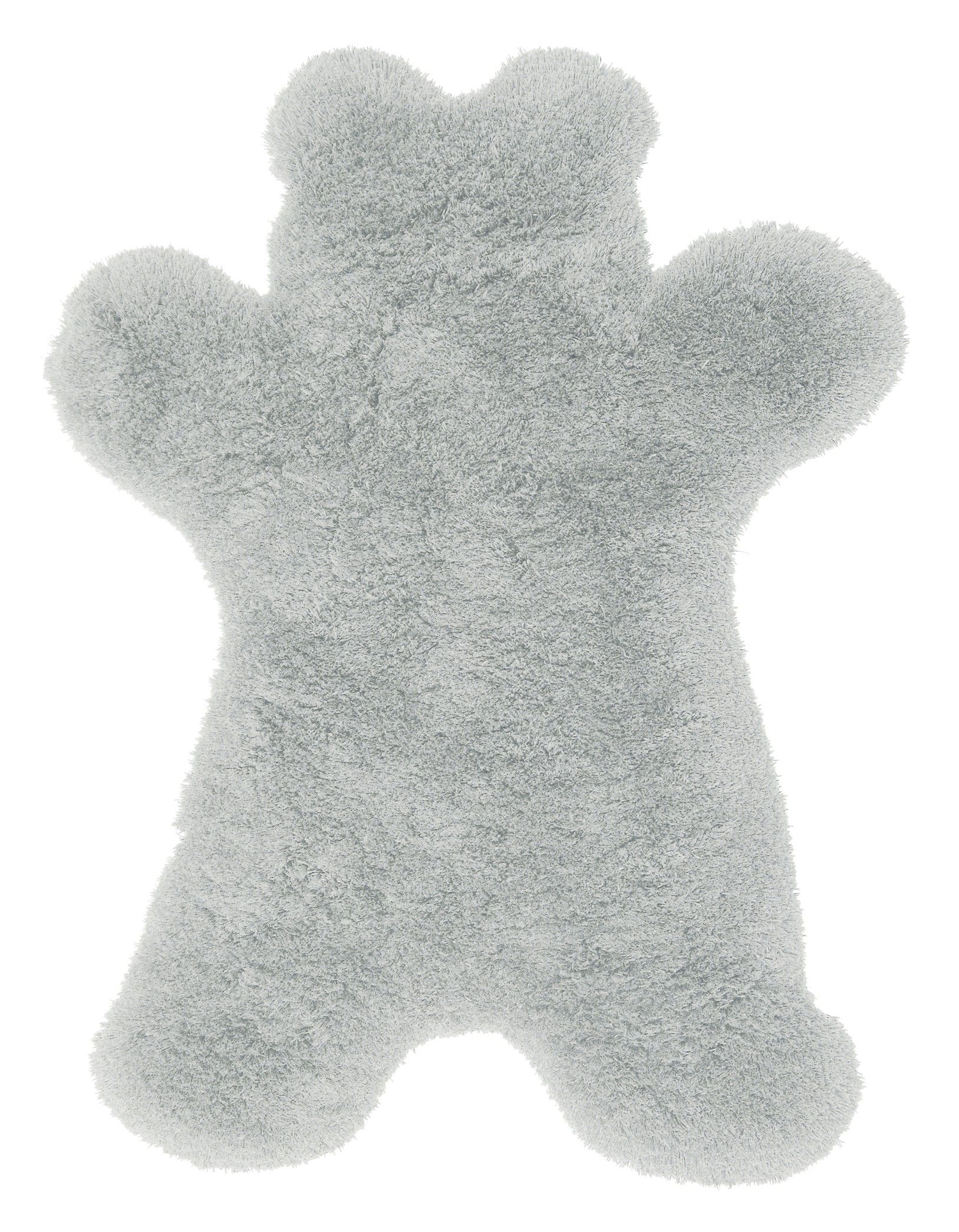 Made From 100 Acrylic Pile That Has Been Hand Tufted And Carved The Thick Rug Is Shaped In A Teddy Bear S