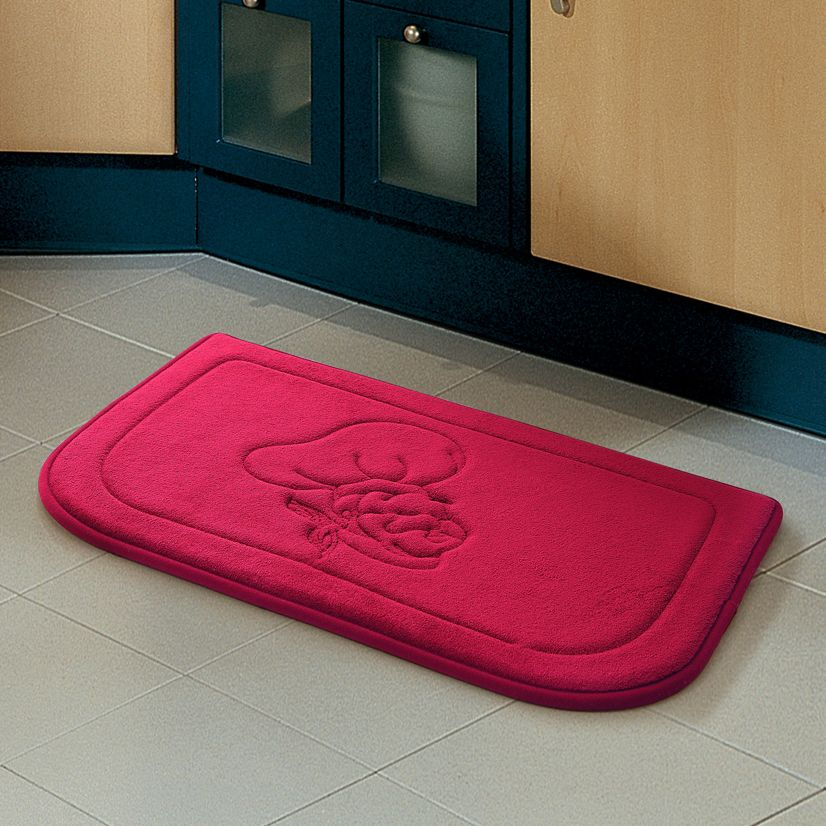 Embossed Chef Memory Foam Kitchen Floor Mat   Available In