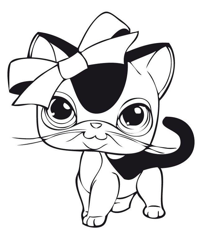 Lps Coloring Pages Cat Coloring Pages Pinterest Little Pet